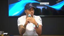 Link öffnet eine Lightbox. Video Hamilton zur Vertragsverlängerung (engl.) abspielen