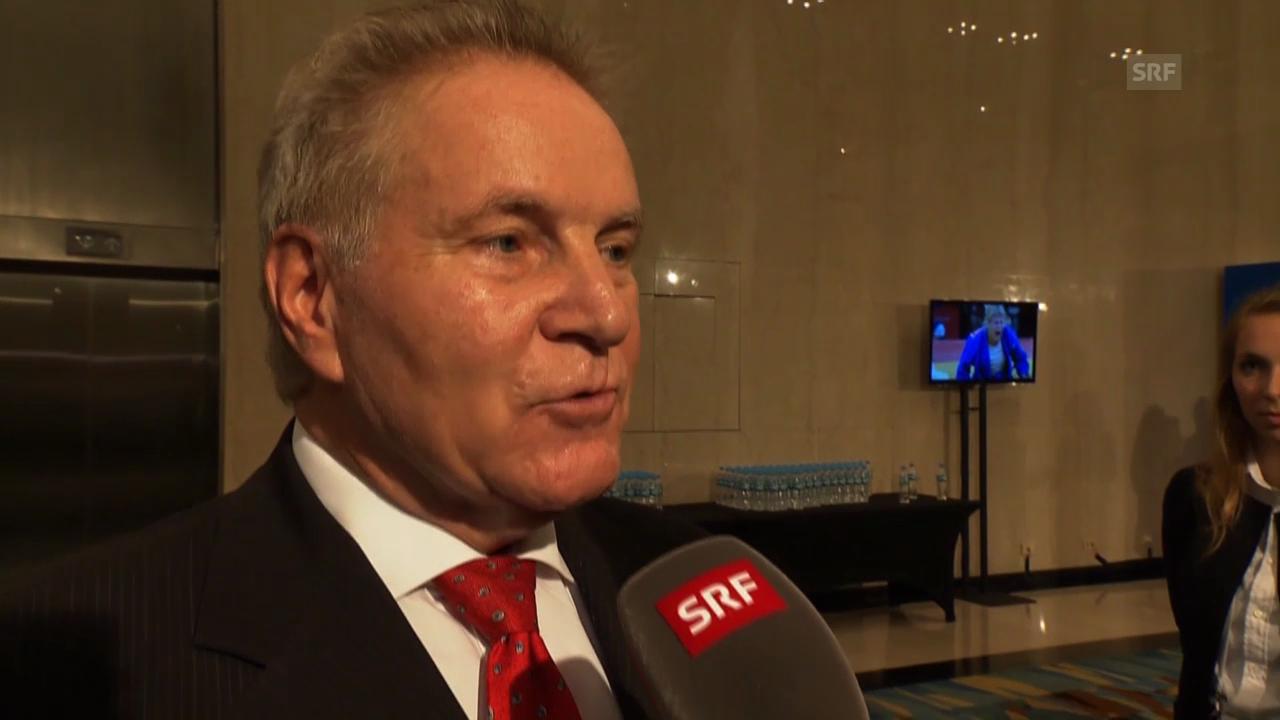 Denis Oswald zur Präsidenten-Wahl (französisch)