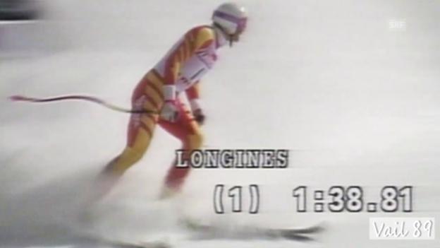 Video «Rückblick 1989: Hangls Kurzauftritt im Rampenlicht» abspielen