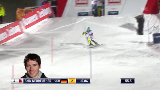 Video «Der 2. Lauf von Felix Neureuther» abspielen
