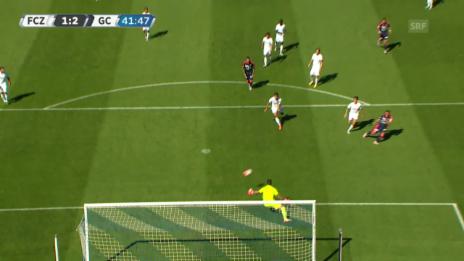 Video «Fussball, Super League, 3. Runde, FCZ-GC, 1:2 Tarashaj» abspielen