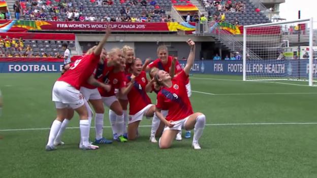 Video «Fussball: Frauen-WM Kanada, Zusammenfassung Norwegen-Thailand» abspielen