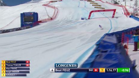 Video «Beat Feuz gelingt auch im Super-G eine brillante Fahrt» abspielen