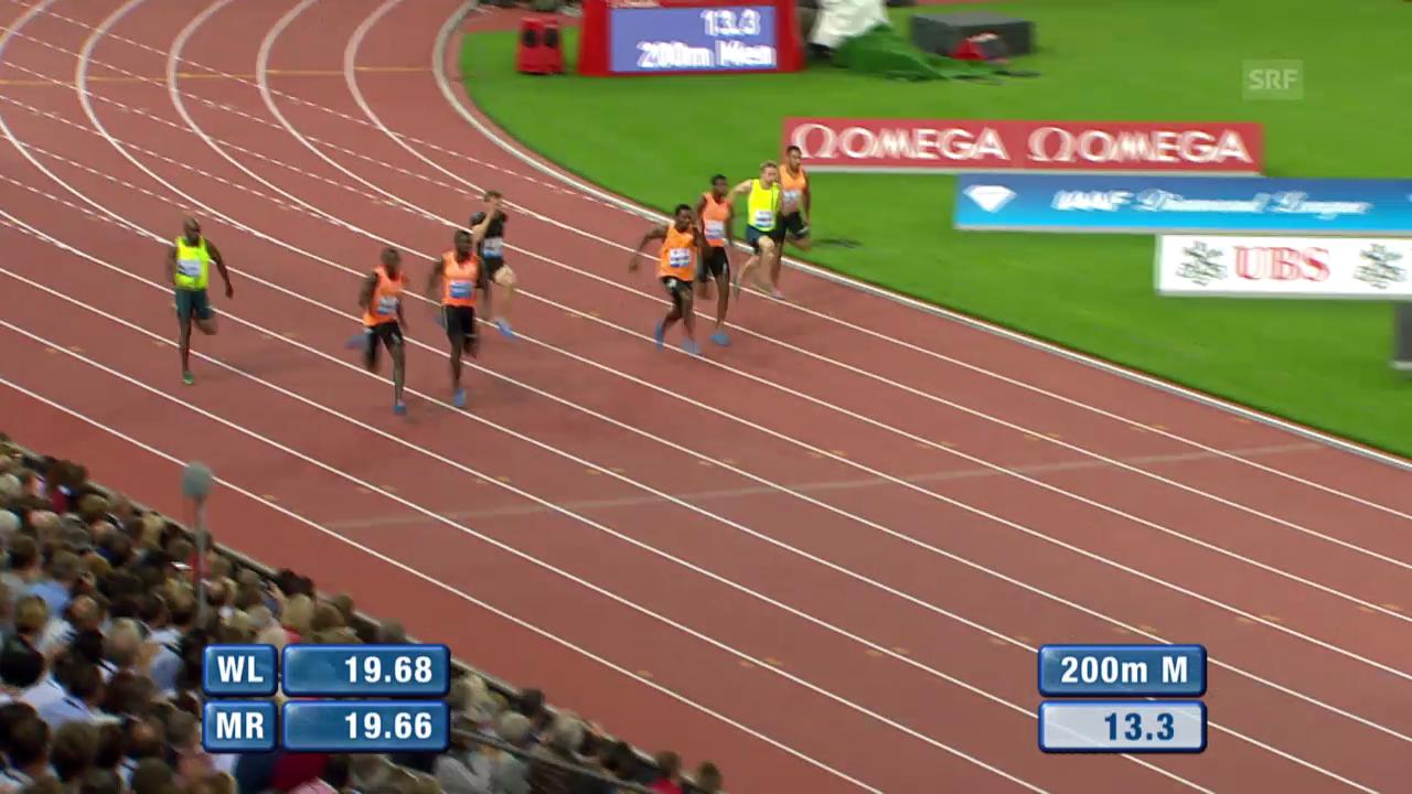 Leichtathletik: Weltklasse Zürich, 200 m Männer