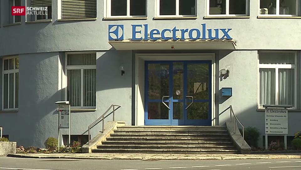 Schliessung der Electrolux-Produktion in Schwanden