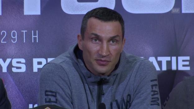 Video «Klitschko: «Ich fühle mich jung» (englisch)» abspielen