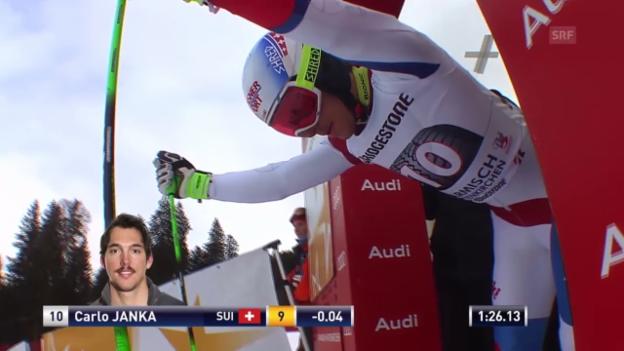 Video «Ski: Riesenslalom Garmisch, 2. Lauf Carlo Janka» abspielen