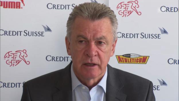 Video «Hitzfeld über den nächsten Gegner Island» abspielen
