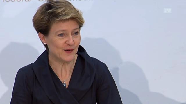 Simonetta Sommaruga über die Bundesunterkünfte.