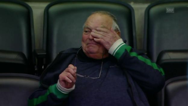 Video «Tyson Josts Grossvater beim NHL-Debüt des Enkels» abspielen