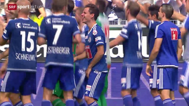 Video «Fussball: Super League, Thun - Luzern» abspielen