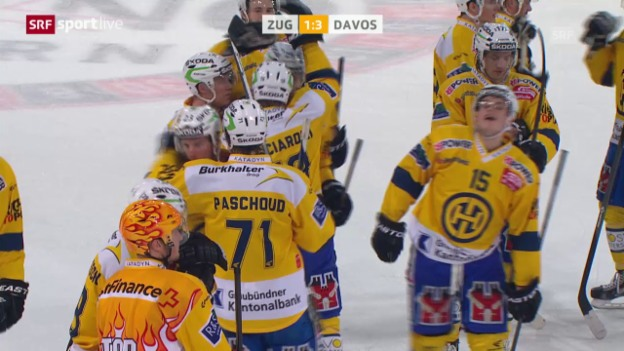 Video «Eishockey: Playoff, 1/4, Game 5, Zug-Davos» abspielen