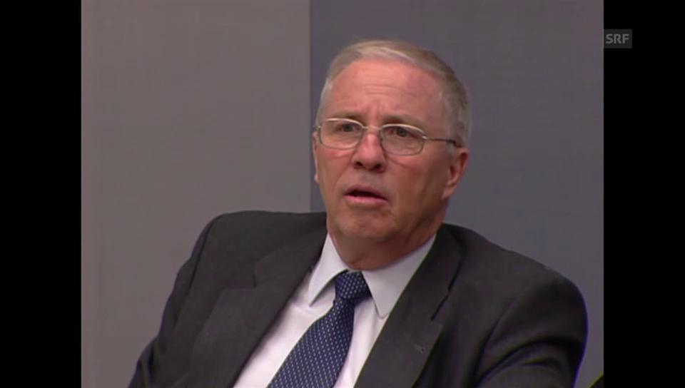 Justizminister Blocher nach der Abstimmung
