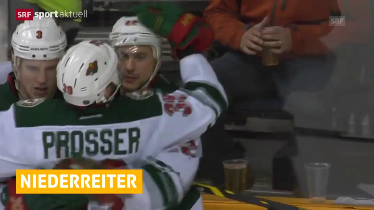 Eishockey: NHL, Minnesota schlägt St. Louis mit Niederreiter