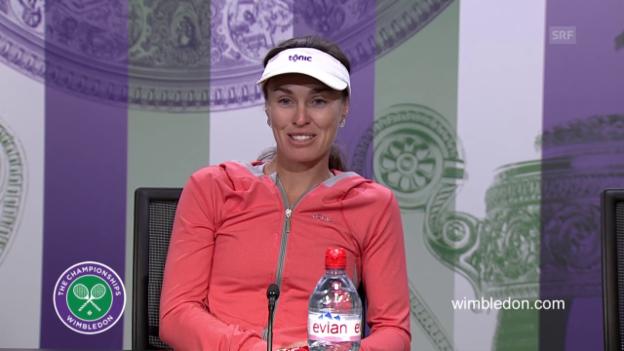 Video «Tennis: Wimbledon 2015, Martina Hingis an der PK» abspielen