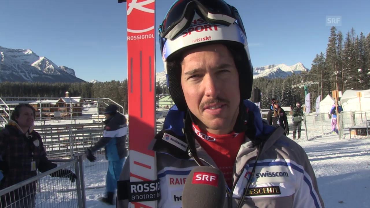 Ski: Training Lake Louise, Interview Carlo Janka