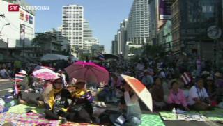 Video «Bangkok: Massenproteste gewinnen an Schärfe» abspielen