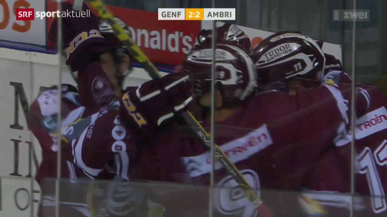 Eishockey: Genf-Servette - Ambri