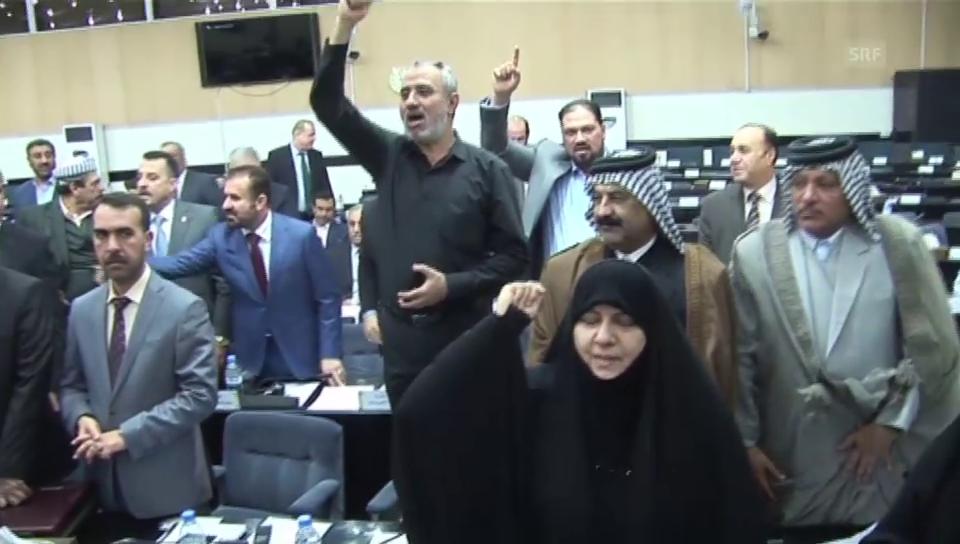 Protestierenden Abgeordnete im Irak (unkomm.)