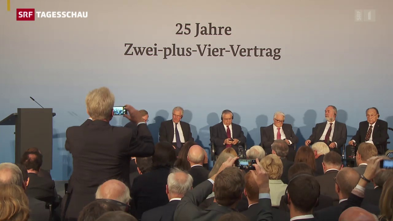 Gedenkfeier zum «Zwei-plus-Vier-Vertrag»