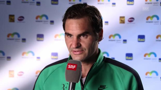 Video «Federers Ausblick: «Werde mehr in der Offensive agieren können»» abspielen