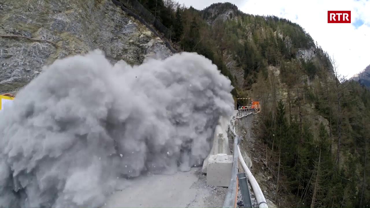 Siglientada per il tunnel en Val Pischöt