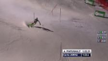 Video «Carlo Janka kontrolliert am Podest vorbei» abspielen