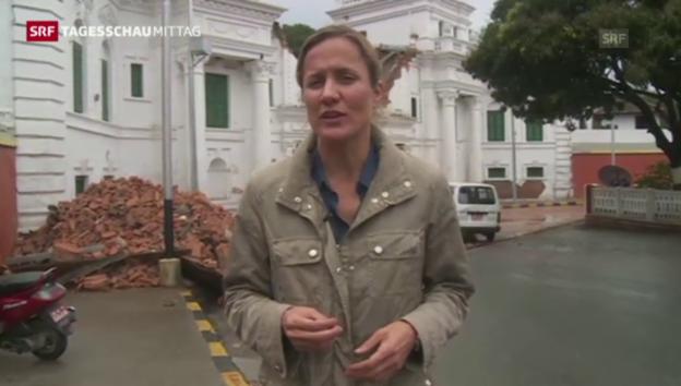 Video «Einschätzungen von Barbara Lüthi in Kathmandu» abspielen