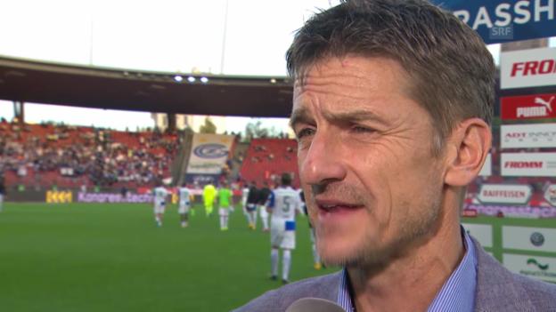 Video «Fussball: Super League, GC - FCZ, Interview mit Urs Meier» abspielen