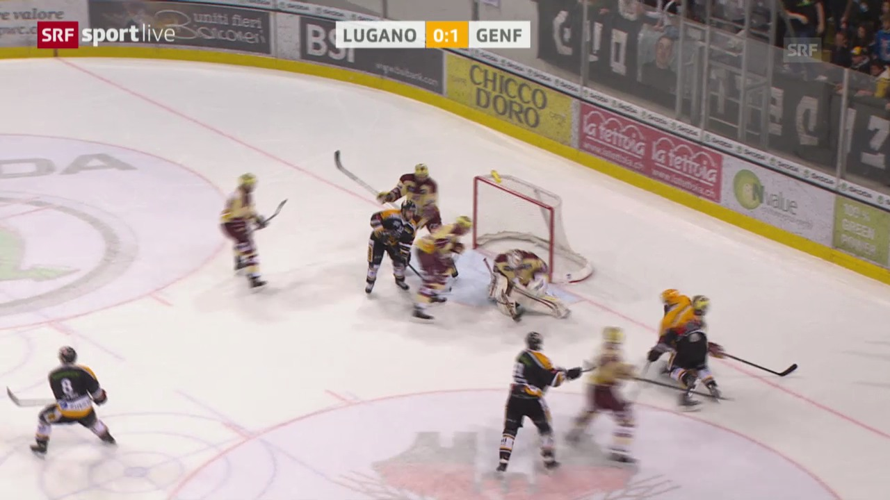 Eishockey: Lugano - Genf («sportlive»)
