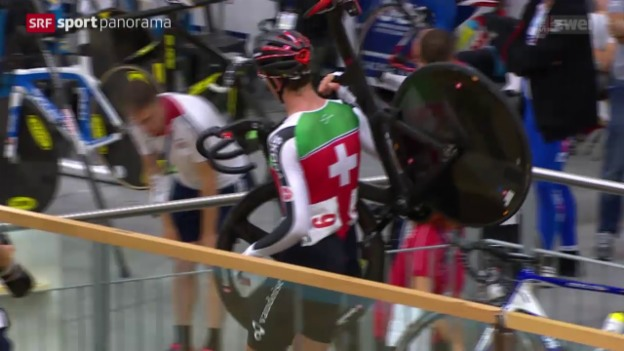 Video «Rad: Bahn-EM in Grenchen, Final Madison» abspielen