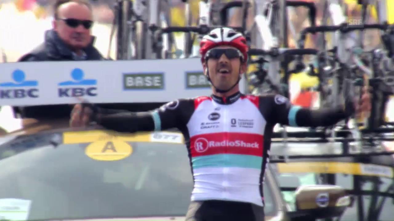 Drei Siege und ein böser Sturz - Cancellara und die Flandern-Rundfahrt