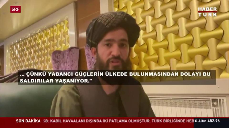 Vertreter der Taliban spricht mit türkischem Sender