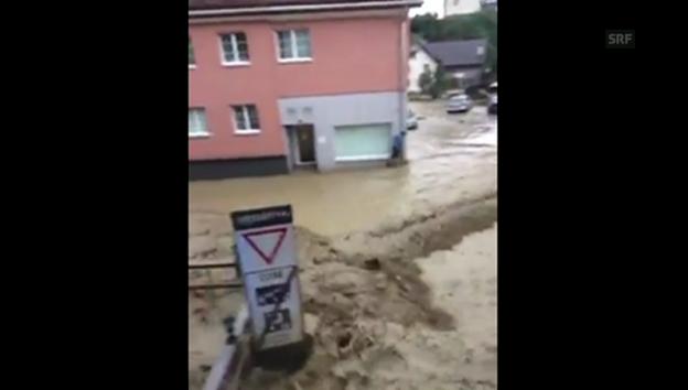 Video «Altstätten: Fluten in der Altstadt» abspielen