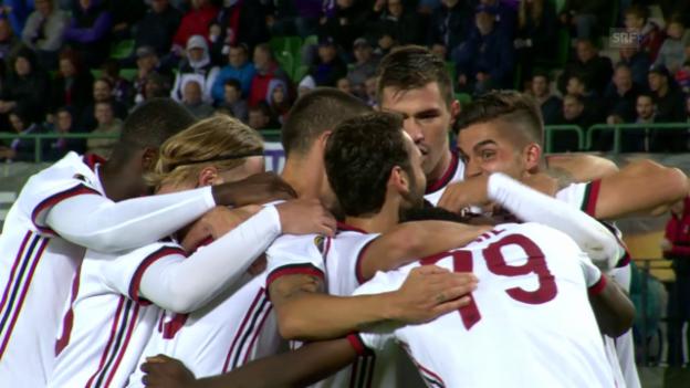 Video «Kantersieg für Milan gegen Wien» abspielen