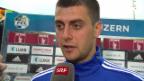 Video «Juric: «Froh, bei meinem Debüt gewonnen zu haben» (englisch)» abspielen