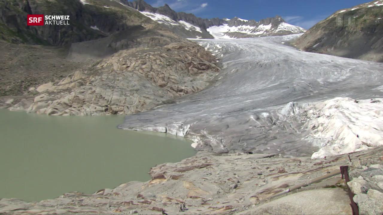Rekordschmelze am Rhonegletscher