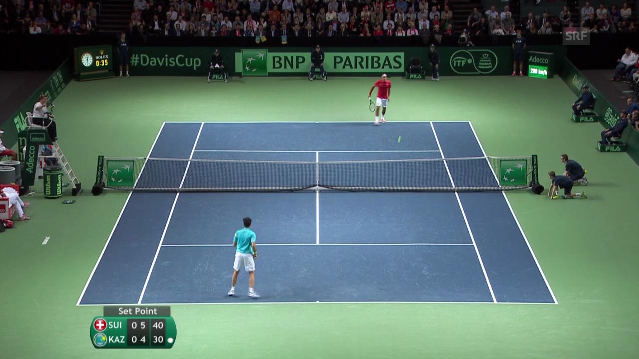 Federer - Kukuschkin: Die besten Ballwechsel