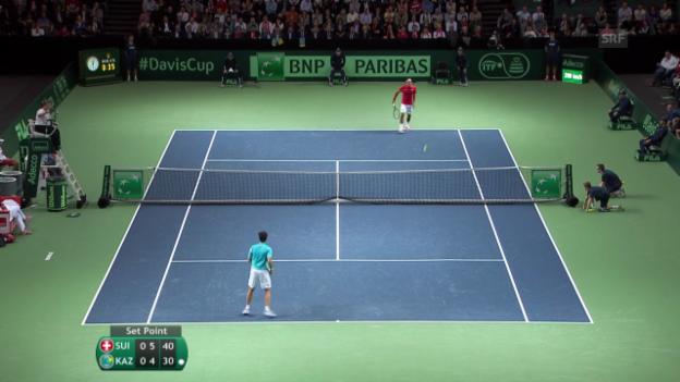Video «Federer - Kukuschkin: Die besten Ballwechsel» abspielen