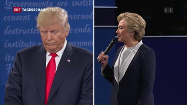 Video «Zweite US-Debatte voller Gehässigkeiten» abspielen