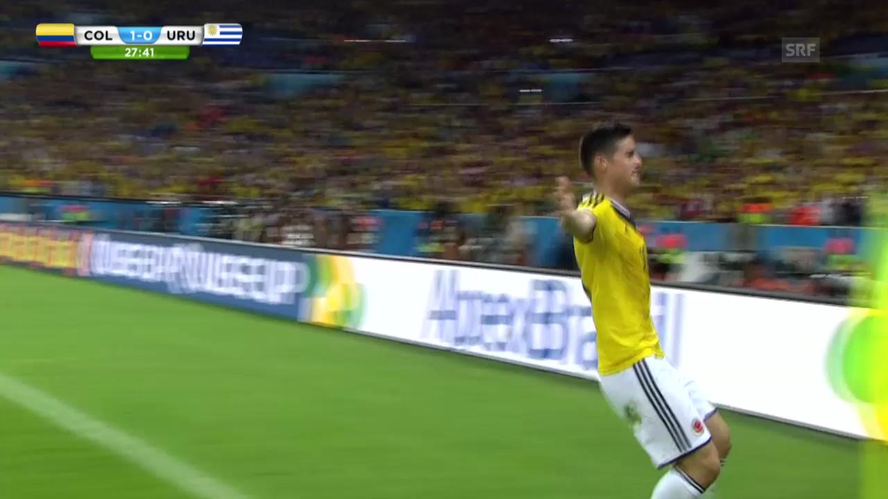 FIFA WM 2014: Kolumbien - Uruguay: Die Live-Highlights