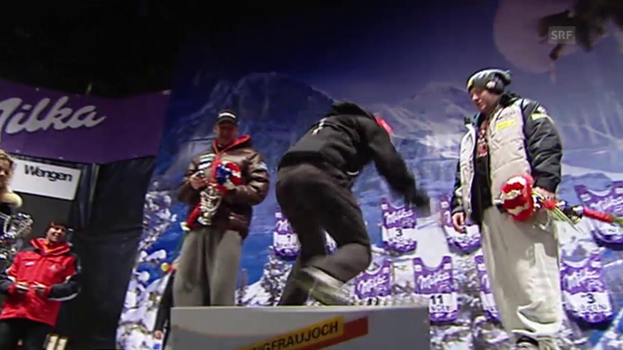Ski: Didier Défagos Sprung aufs Siegertreppchen
