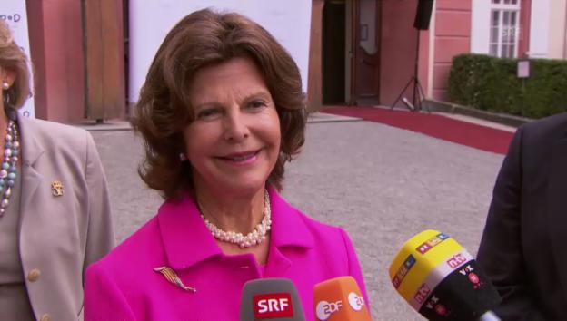 Video «Königin Silvia von Schweden über Enkelin Estelle» abspielen