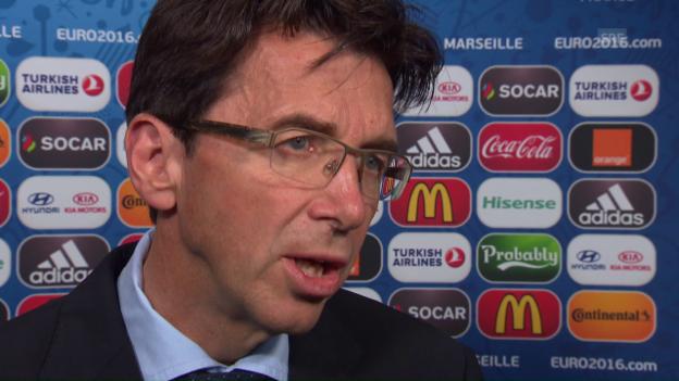 Video «UEFA-Turnierchef Martin Kallen im Interview, Teil 1» abspielen