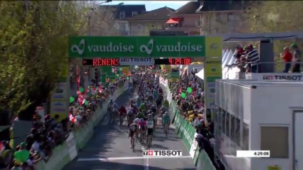 Video «Tour de Romandie: 1. Etappe, letzter Kilometer («sportlive»)» abspielen