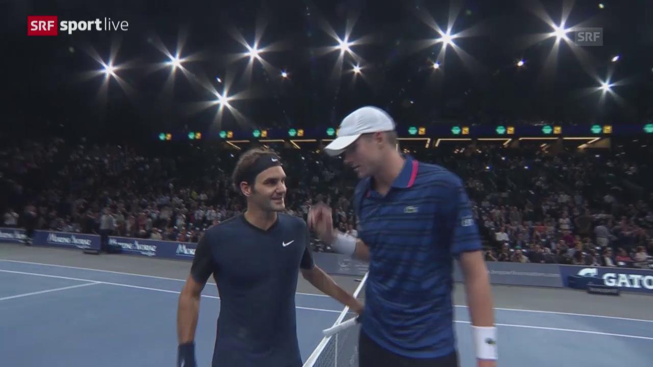 Tennis: ATP-1000-Paris, Federer-Isner