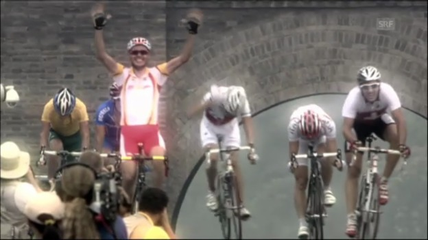 Video «Rad: Sanchez' Olympiasieg beim Strassenrennen 2008 («Peking aktuell»)» abspielen
