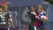 Video «Bjarnasons Jubiläumstor für den FCB» abspielen