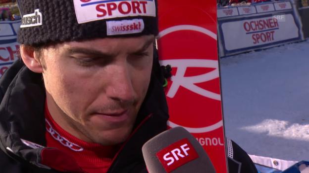 Video «Ski Alpin: Weltcup Adelboden, Riesenslalom, Janka zum 1. Lauf» abspielen
