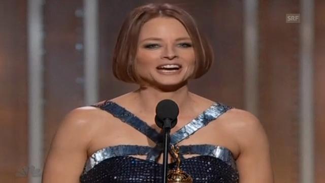 Jodie Foster bei der «Golden Globe»-Verleihung 2013